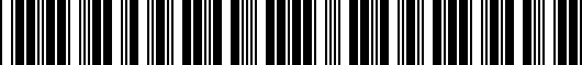 Barcode for PT2060C02416