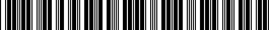 Barcode for PT2060C03014