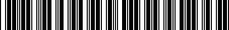 Barcode for PT22848141
