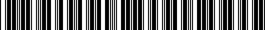 Barcode for PT9260C19011