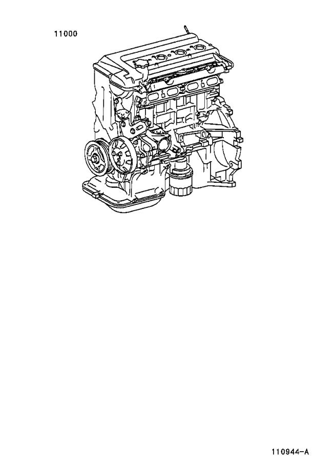 Toyota Echo Engine Complete  Engine  Partial