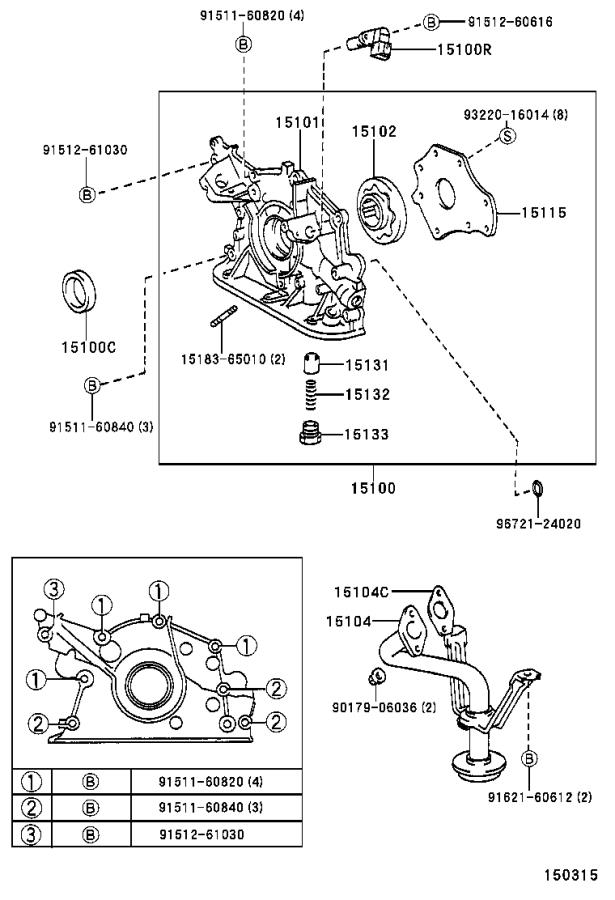 Toyota 4runner Spring  Oil Pump Relief Valve  Engine