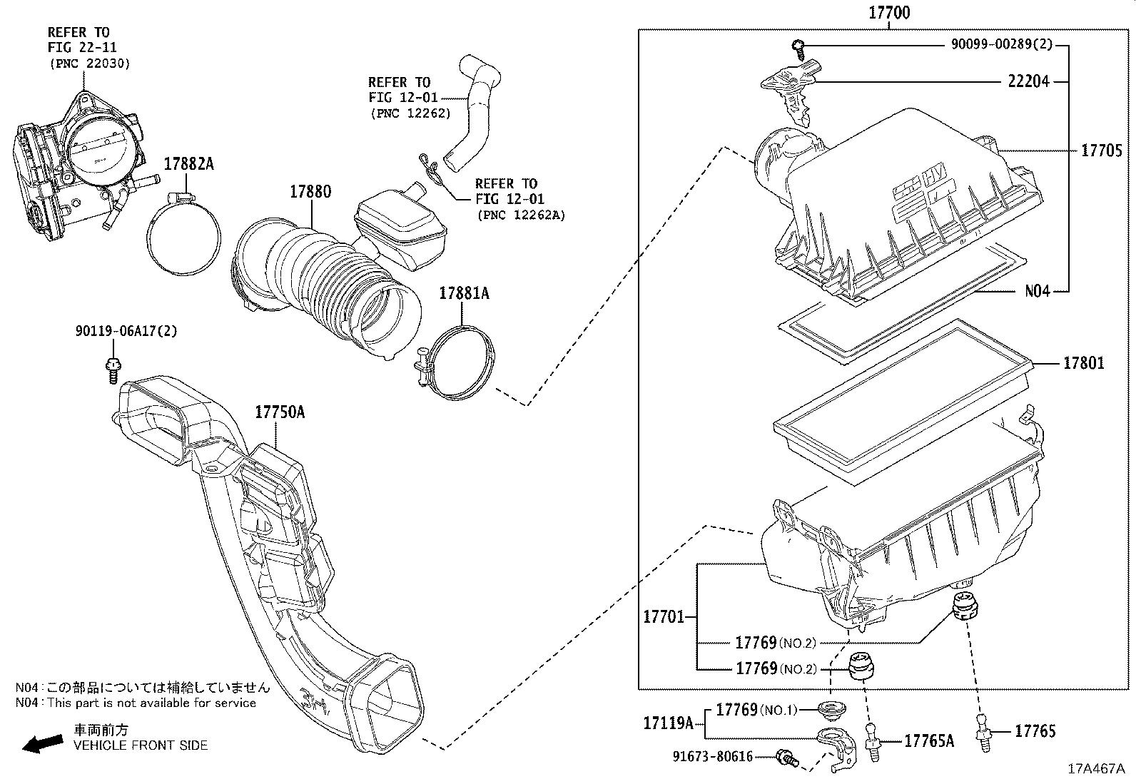 Toyota Rav4 Cleaner Assembly  Air  Interchangeable With 17700f0020