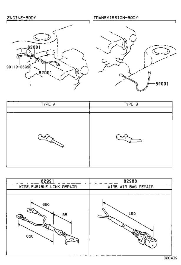 Toyota Corolla Block Assembly  Fusible Link  Wire  Engine