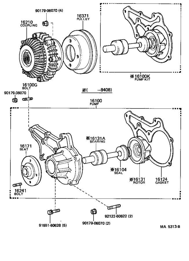 Toyota Celica Engine Water Pump Pulley