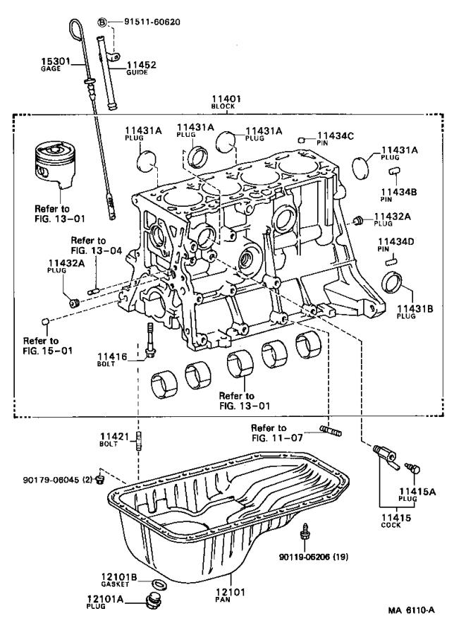 Toyota Tercel Guide  Oil Level Gage  Engine
