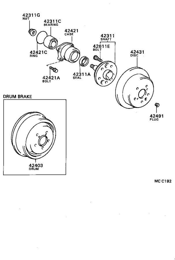 Toyota Celica Cv Joint Kit  Rear   Shaft  Drive Outboard